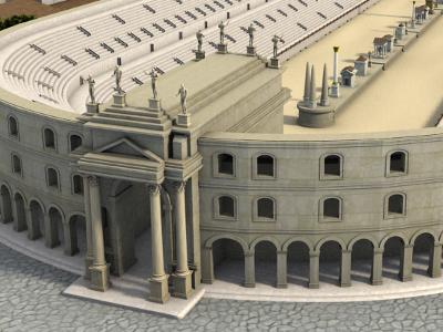 Ricostruzione dell' Arco di Tito facciata principale