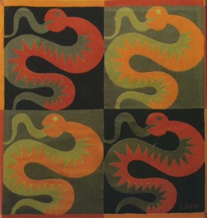 Quattro serpenti, 1925 by Fortunato Depero