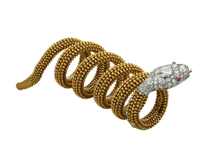 Serpenti gold diam
