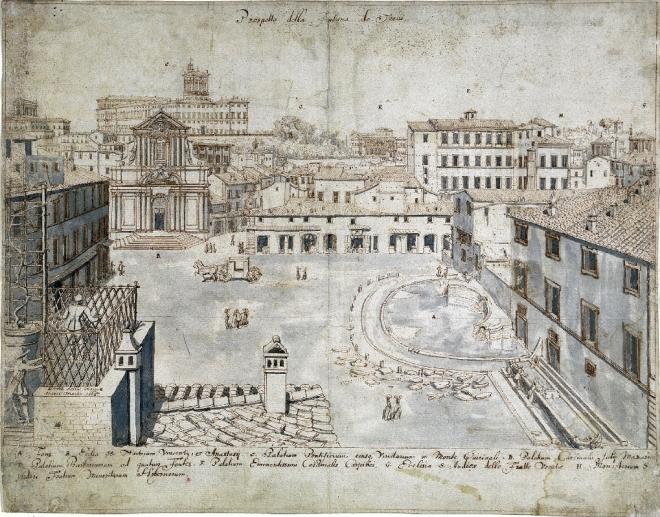 Lievin-Cruyl-veduta-fontana-di-trevi-1665