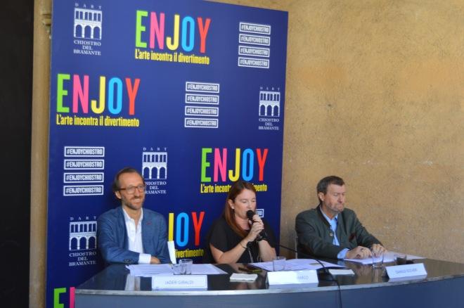 Conferenza stampa Enjoy l'arte incontra il divertimento