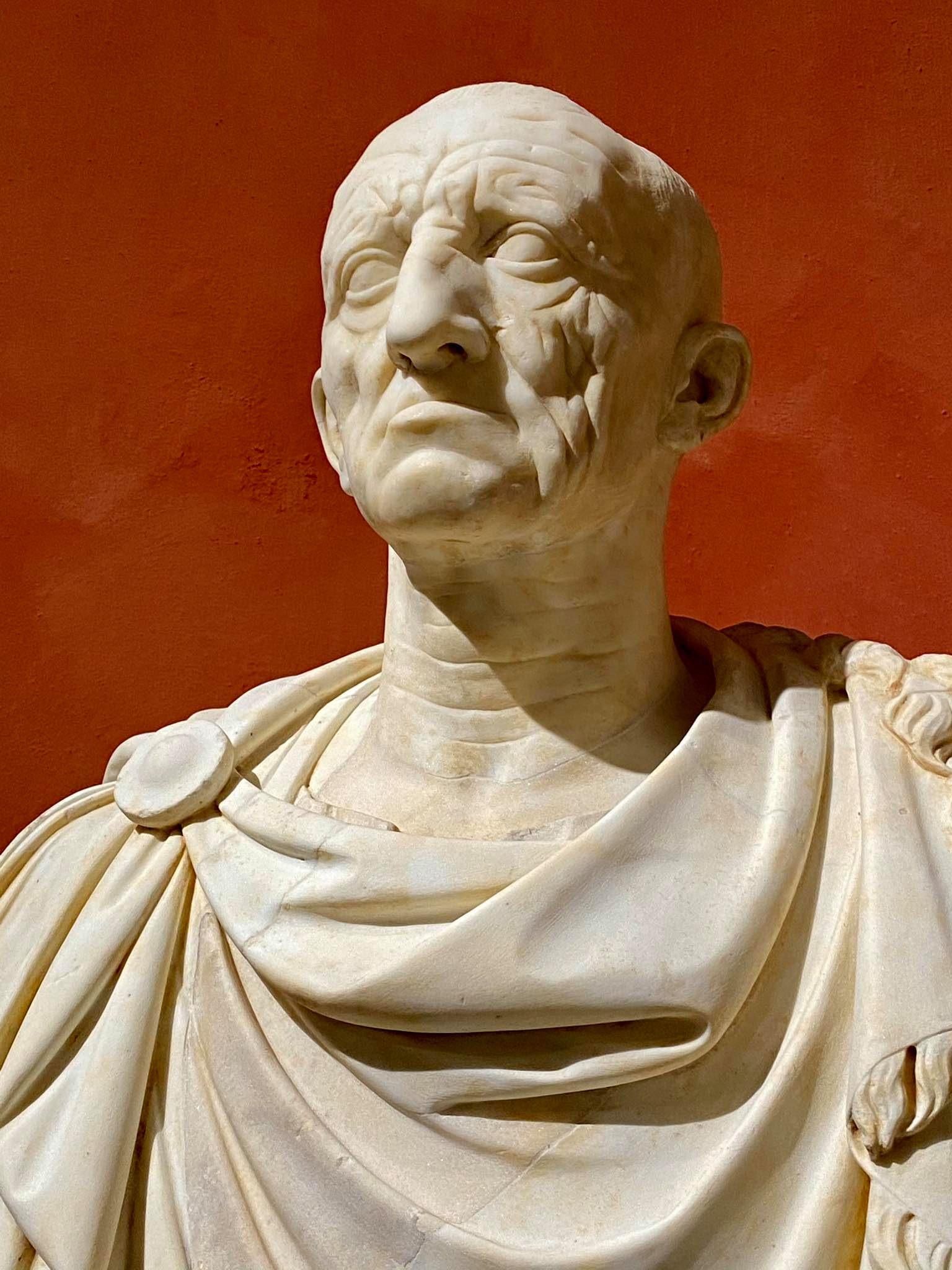 Vecchio busto marmo Otricoli collezione Torlonia